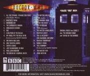 Murray Gold - Doctor Who Series 3 soundtrack CD reverse
