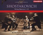 Dmitri Shostakovich: Complete String Quartets Nos 1 to 13 - CD box set cover