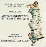 Stephen Sondheim - A Funny Thing Happened on the Way to the Forum, 1996 Revival Cast CD cover