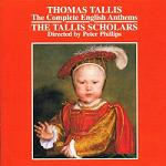 Thomas Tallis - The Complete English Anthems, CD album cover