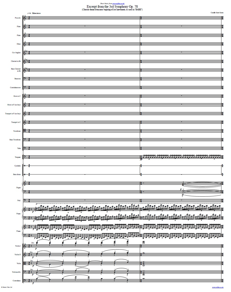 Babe (orchestral) - sheet music 1st page