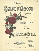 Old edition of the version for Piano Solo, indicating alternative arrangements
