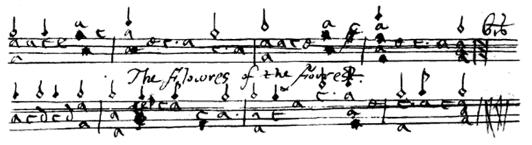 Flowers of the Forest - from the original Skene Manuscript