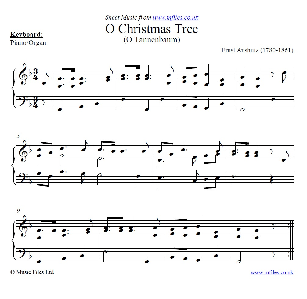 The Song Oh Christmas Tree: O Christmas Tree (O Tannenbaum): A Traditional Christmas