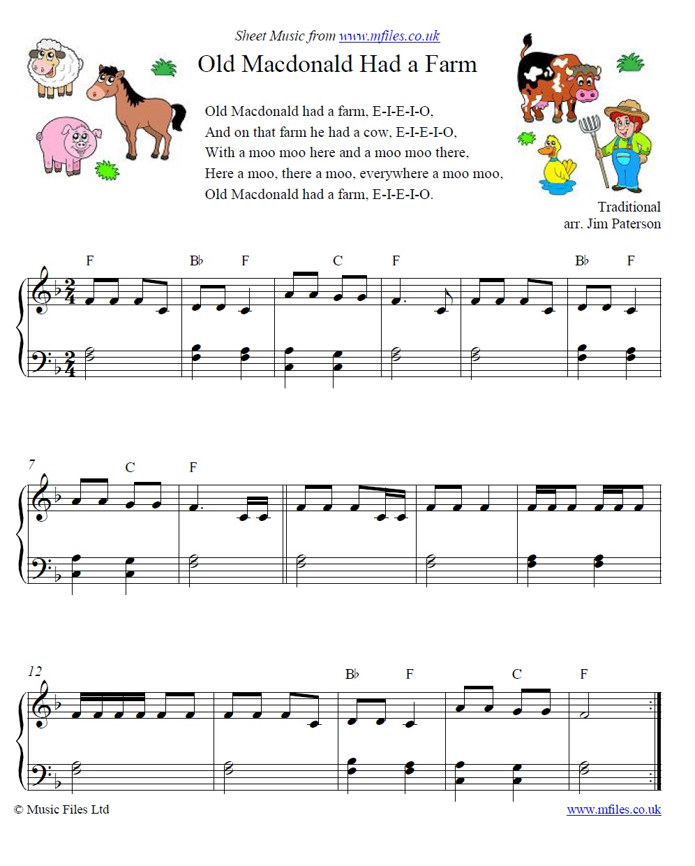 Old McDonald Had a Farm: a traditional Children's Song - download