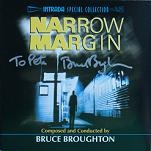 Bruce Broughton: Narrow Margin - signed CD