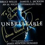 James Newton Howard: Unbreakable - signed CD