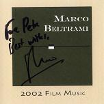 Marco Beltrami: Film Music 2002 - signed CD