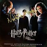 Harry Potter and the Order of the Phoenix - CD signed by Nicholas Hooper